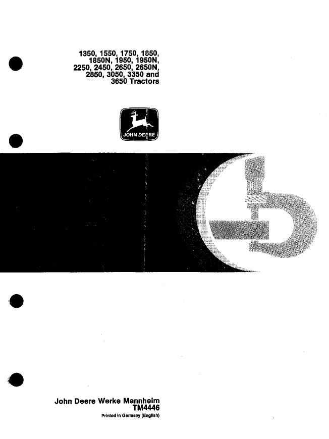 john deere 2850 manual pdf