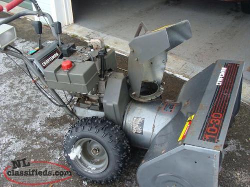 Yardworks 30 inch snow blower manual