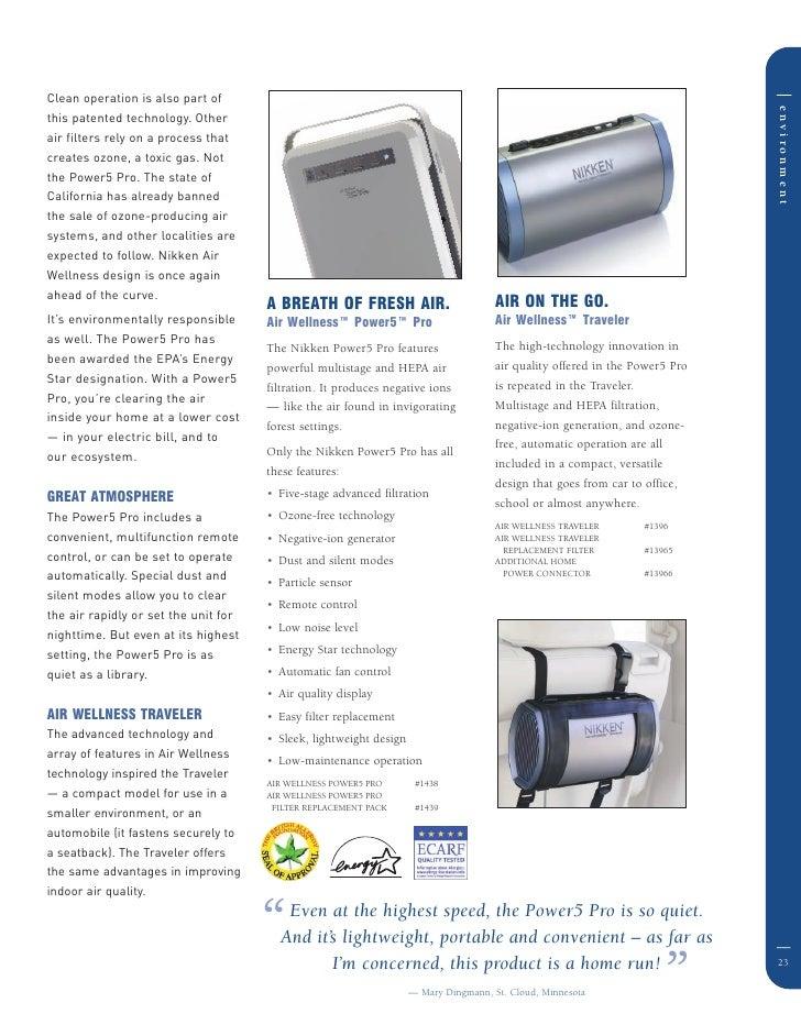 nikken air wellness power5 pro manual