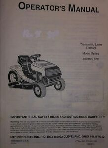 mtd lawn mower engine manual