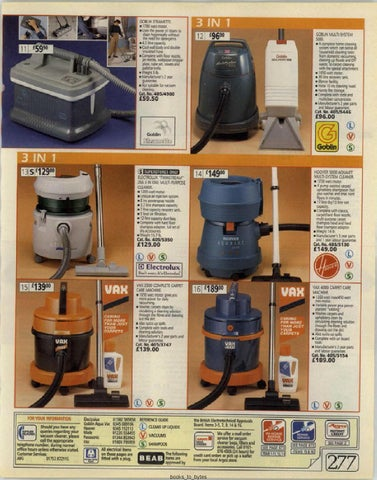 Hoover aquajet 5000 instructions