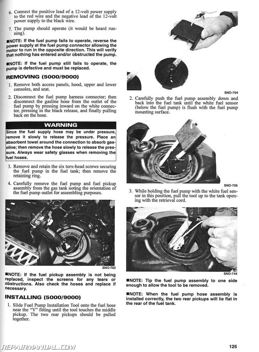 2004 arctic cat snowmobile service manual