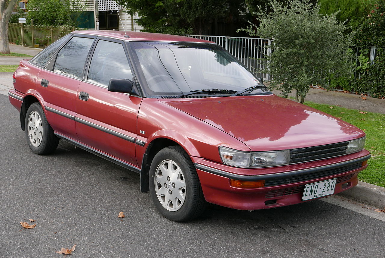 1991 toyota corolla cs ae92 manual hatchback valuation