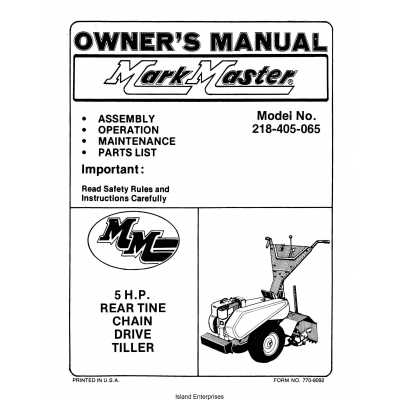 mtd 5hp rear tine tiller manual