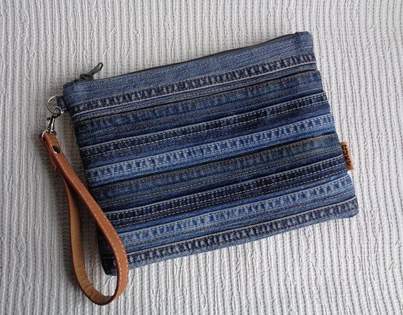 instructions to make a zippered tote out of blue jeans