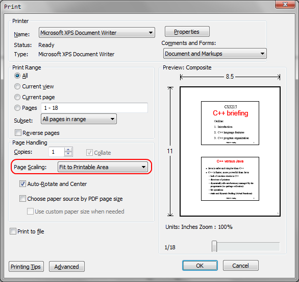 Create pdf from print option