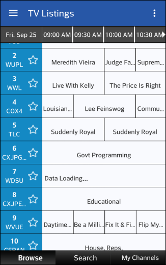 Cox cable tv guide channel