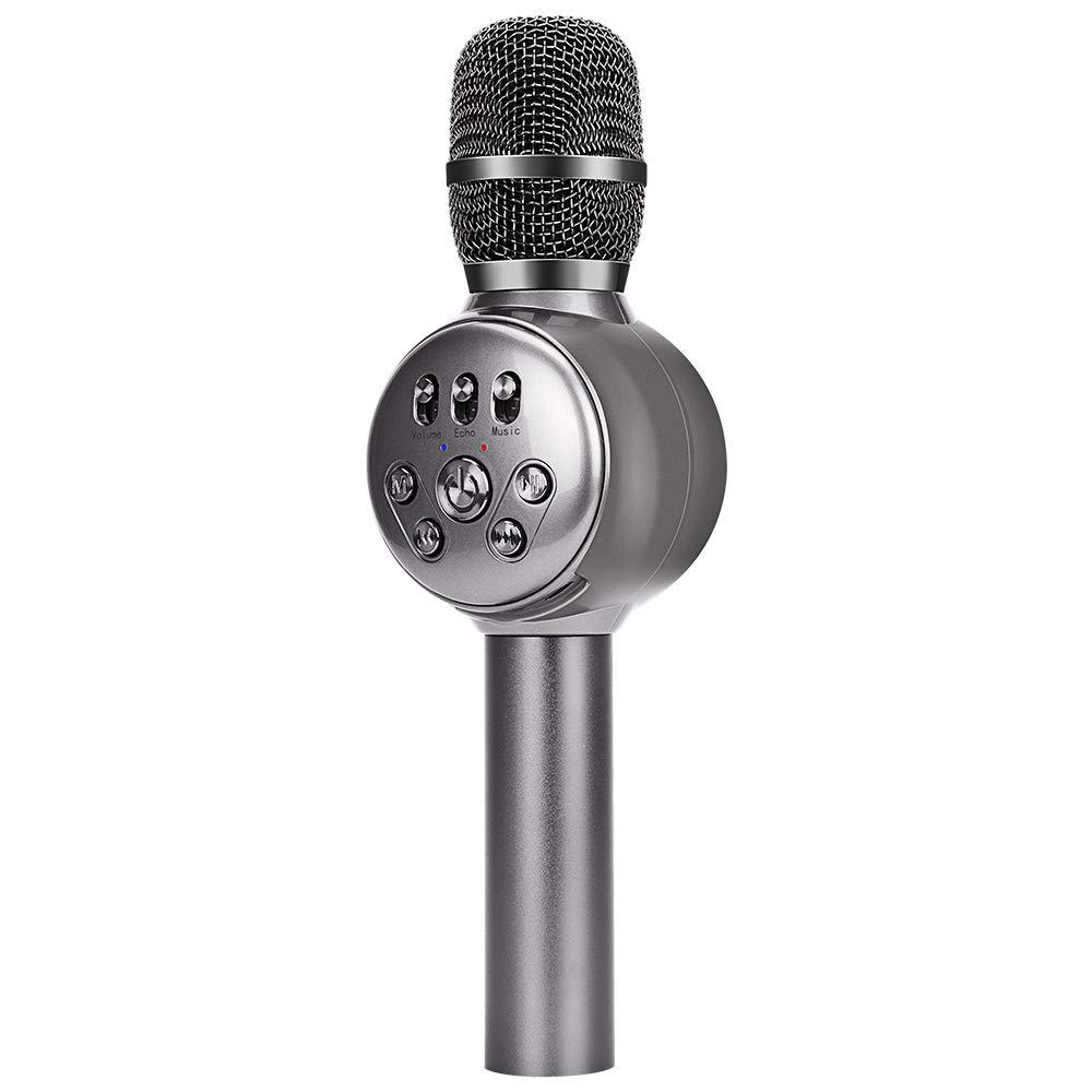 bonaok wireless bluetooth karaoke microphone instructions