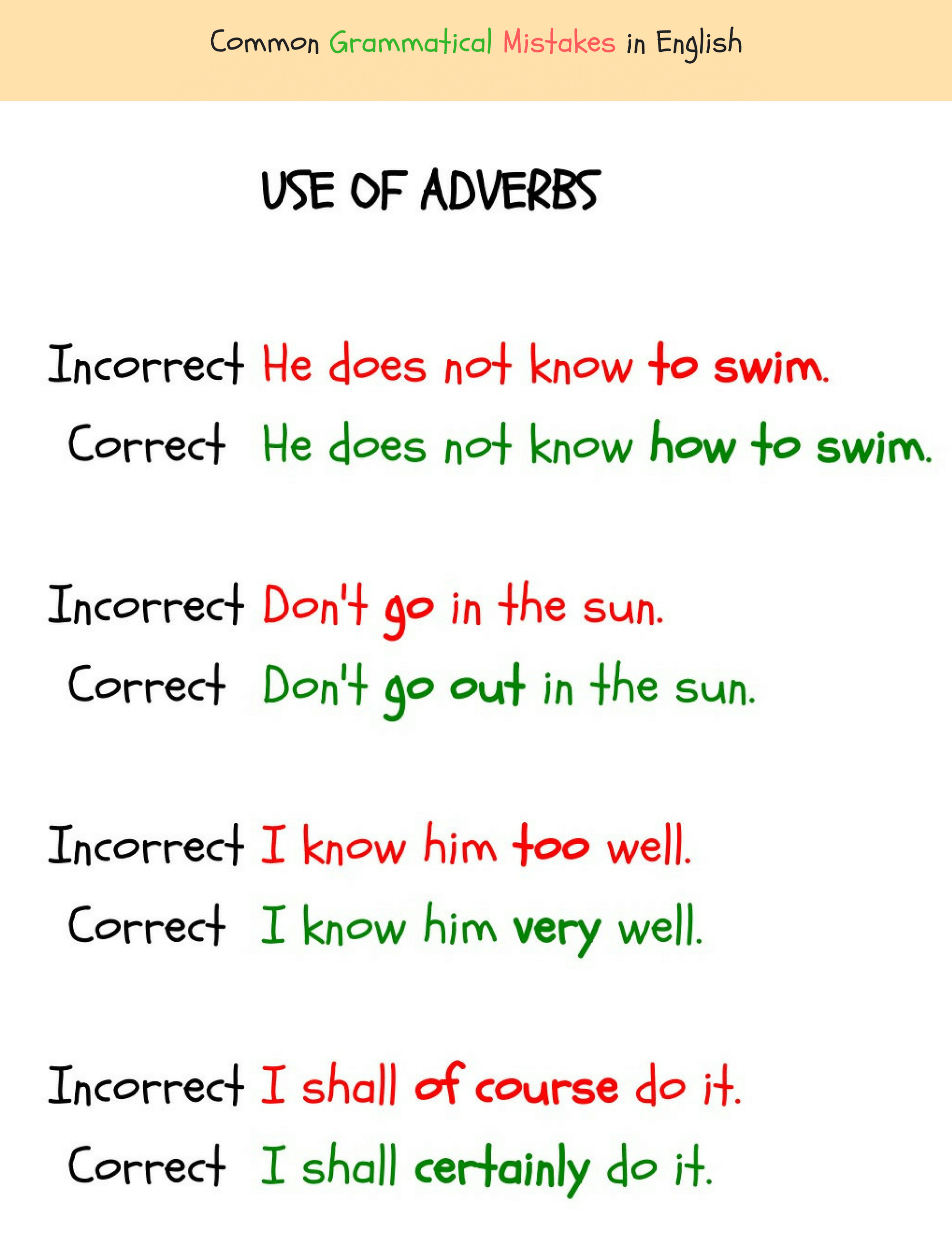 Common errors in adjectives pdf