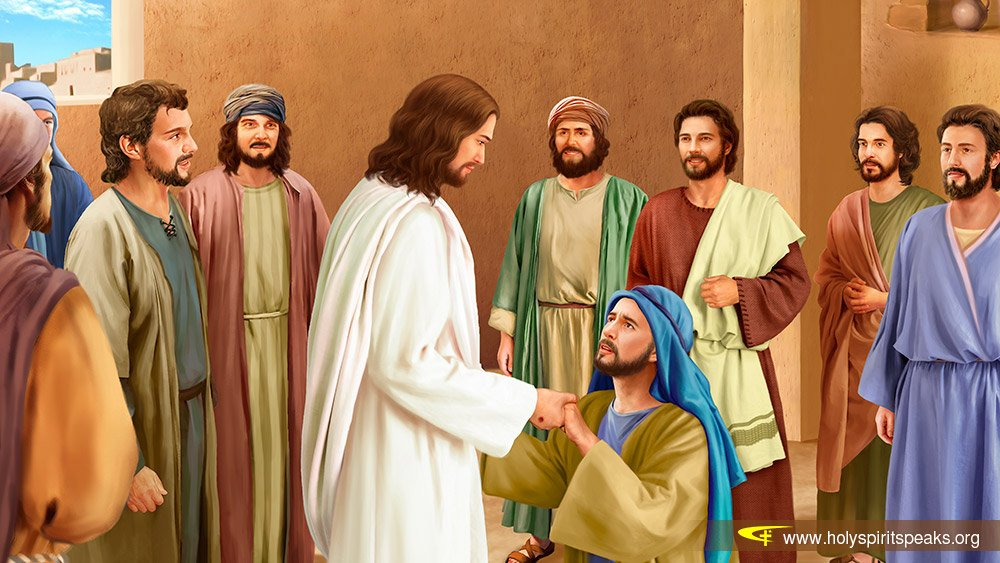 jesus giving fishing instructions to disciples after resurrection