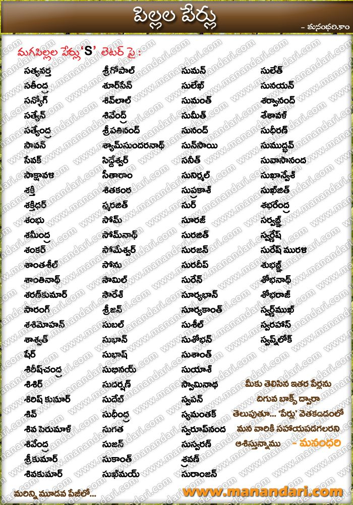 Baby names in tamil boy list hindu pdf