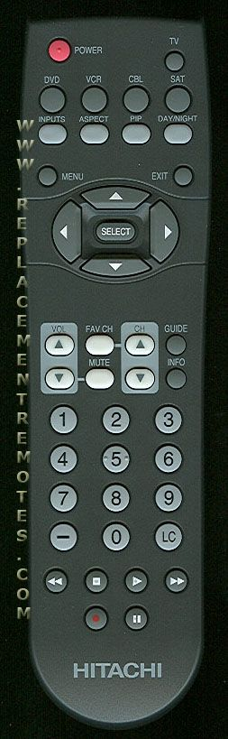 hitachi remote control instructions