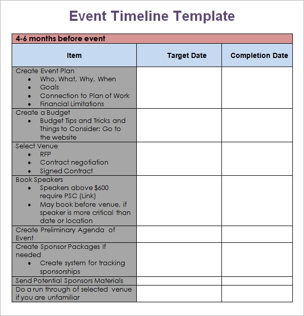 Event planning project plan template pdf