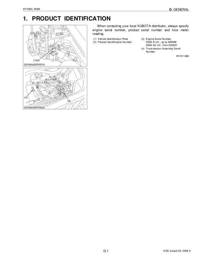 Kubota rtv 900 owners manual