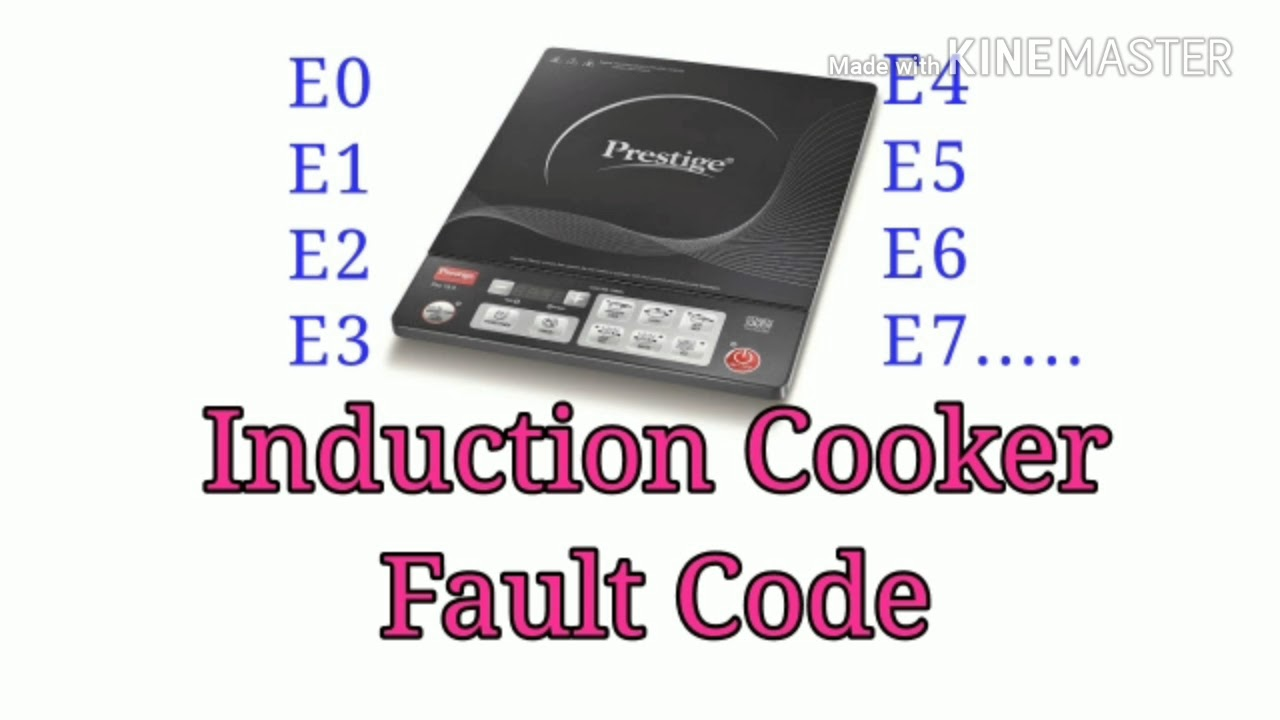 Induction cooker error codes pdf