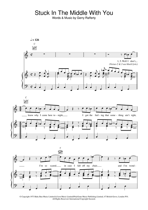 Stuck in the middle with you tab pdf