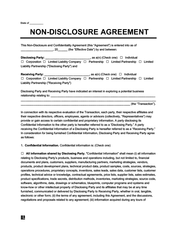 Confidentiality and nondisclosure agreement pdf