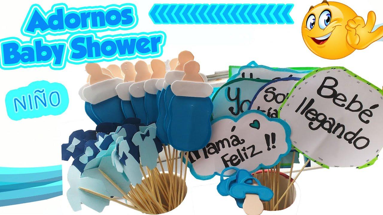 Manualidades para baby shower de nino