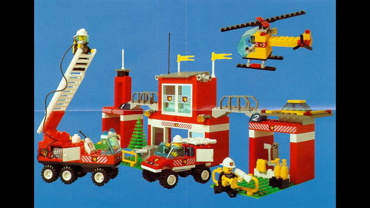 lego city fire station instructions youtube