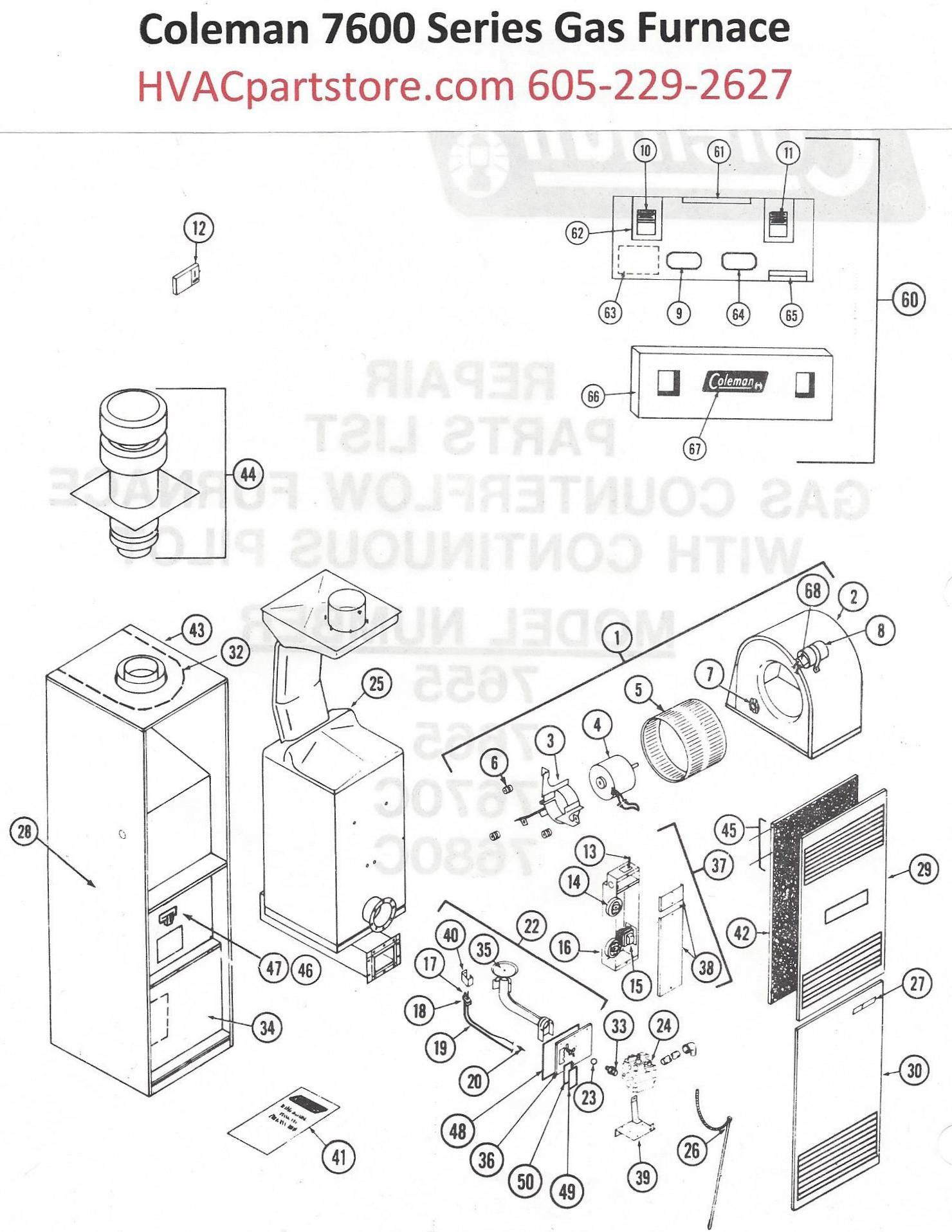 Coleman furnace 7665 856 manual
