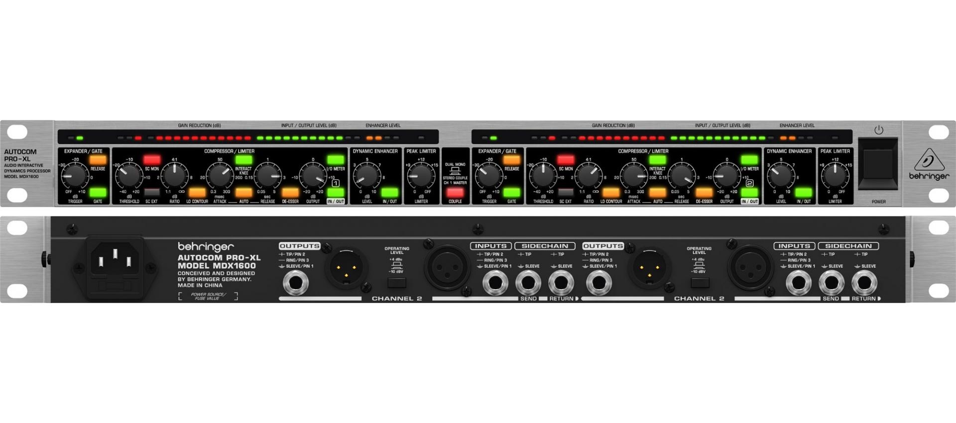behringer autocom pro xl mdx1600 manual