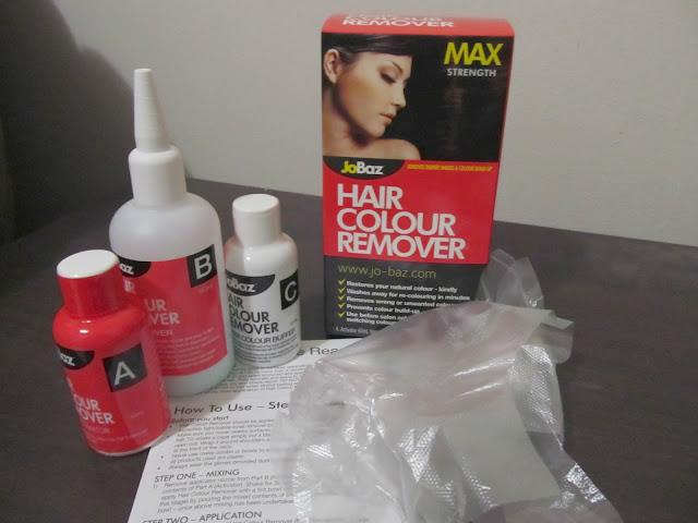 Jobaz hair colour remover max strength instructions