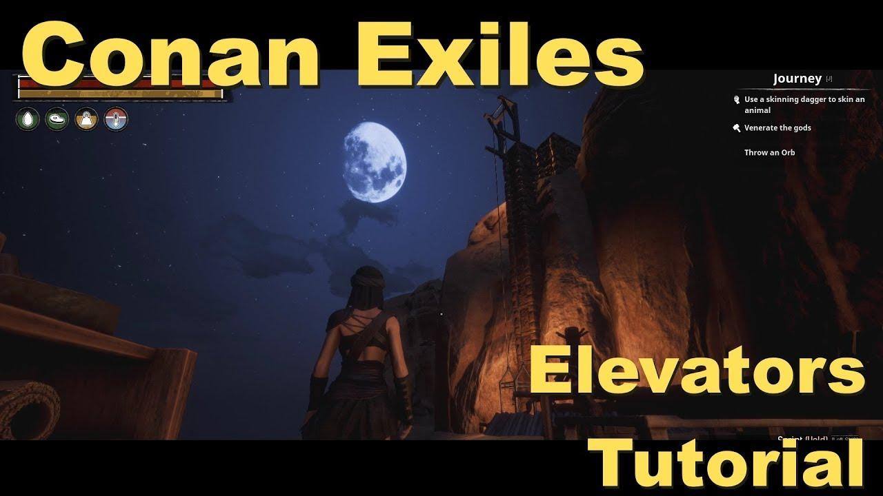 Conan exiles how to build elevator