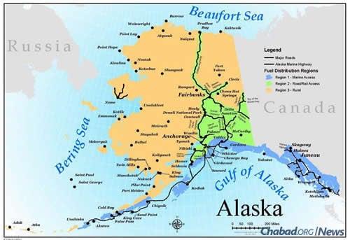 Canada and alaska map major towns pdf