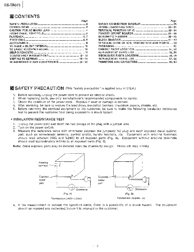 technics rs tr373 service manual
