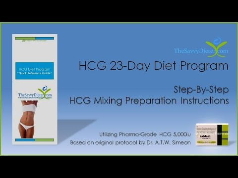 hcg diet instructions in spanish