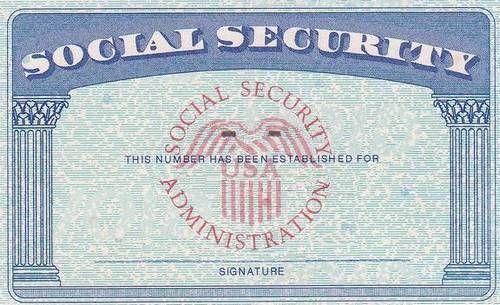 Fake social security card template pdf