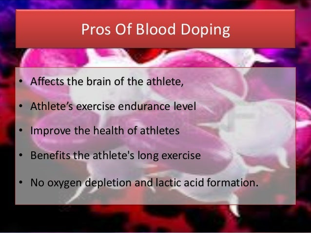 Blood doping in sports pdf