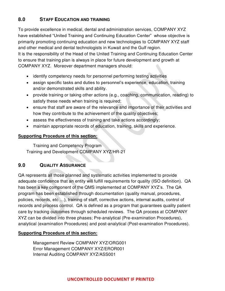 iso 15189 quality manual pdf