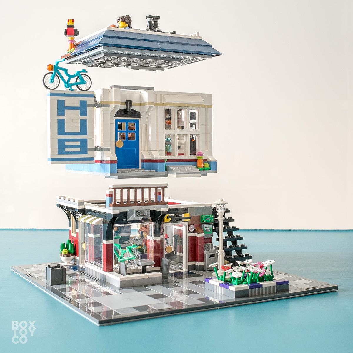 lego bike shop and cafe instructions