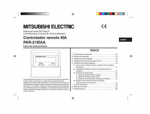 Mitsubishi par 21maa j manual