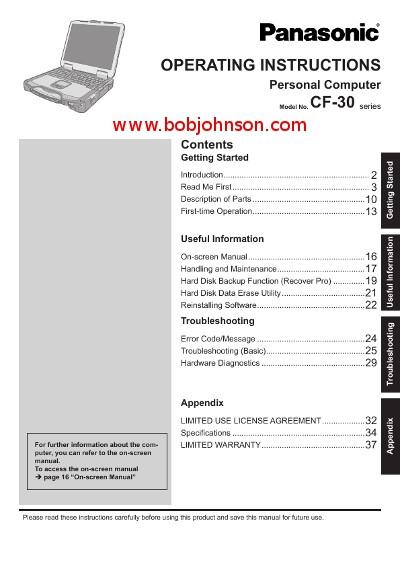 panasonic toughbook cf 31 manual