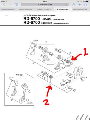 shimano 6700 rear derailleur manual