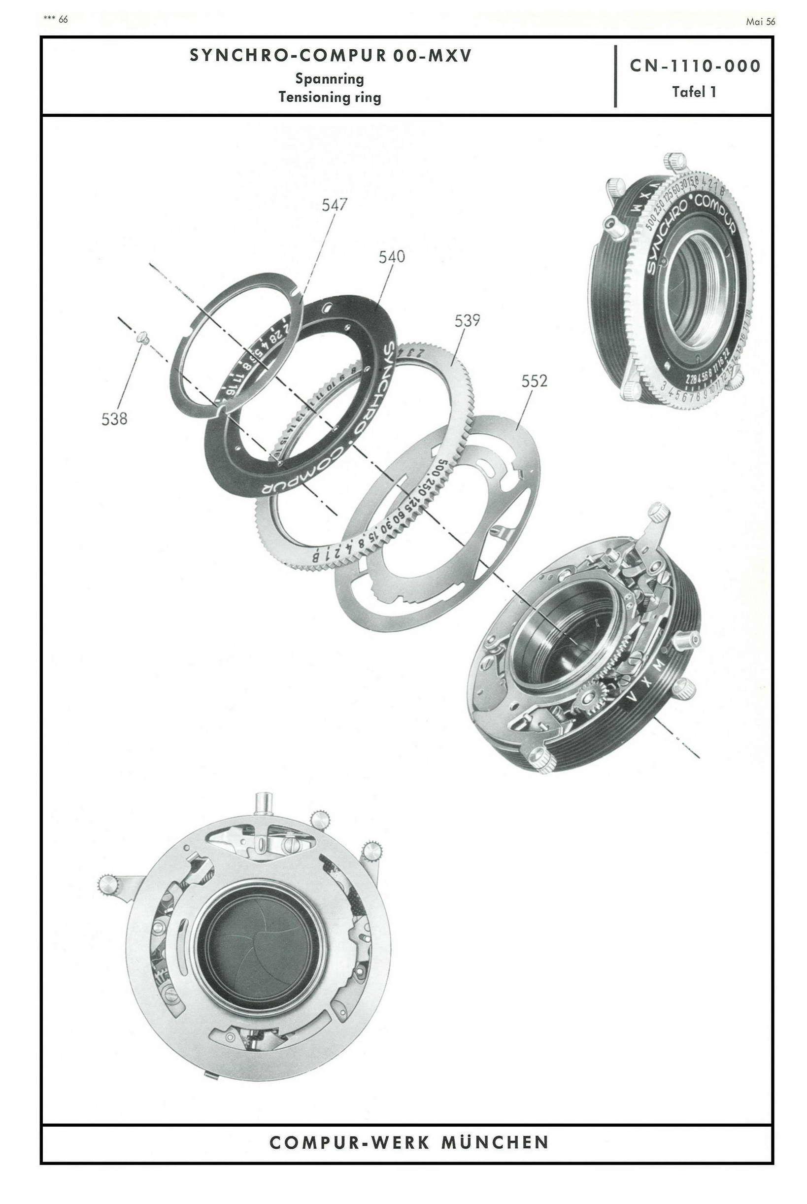 synchro compur shutter repair manual