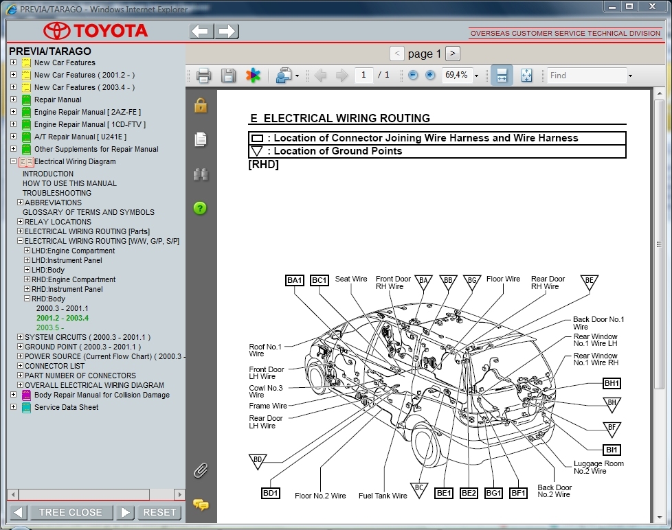 Toyota previa workshop manual pdf
